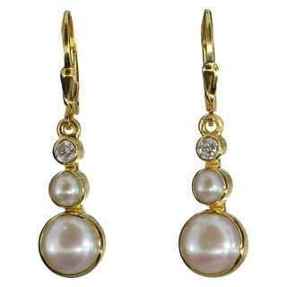 Earrings Pearl Zirconia