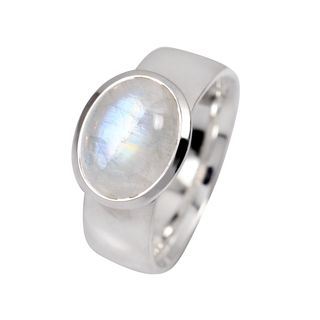 Ring Rainbowmoonstone