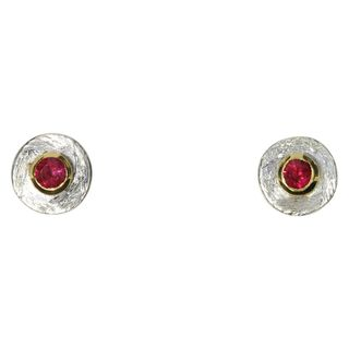 Earstuds red spinel