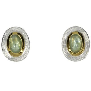 Earstud green Disthene¶-goldplated 5µ-