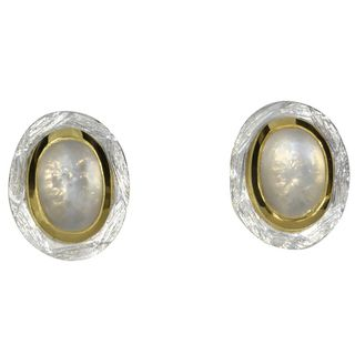 Earstud Moonstone¶-goldplated 5µ-