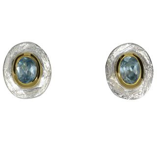 Earstud Aquamarine -goldplated 5µ-