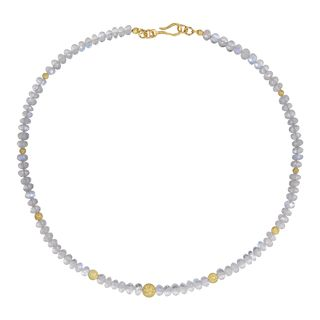 Gem Necklace Rainbow Moonstone